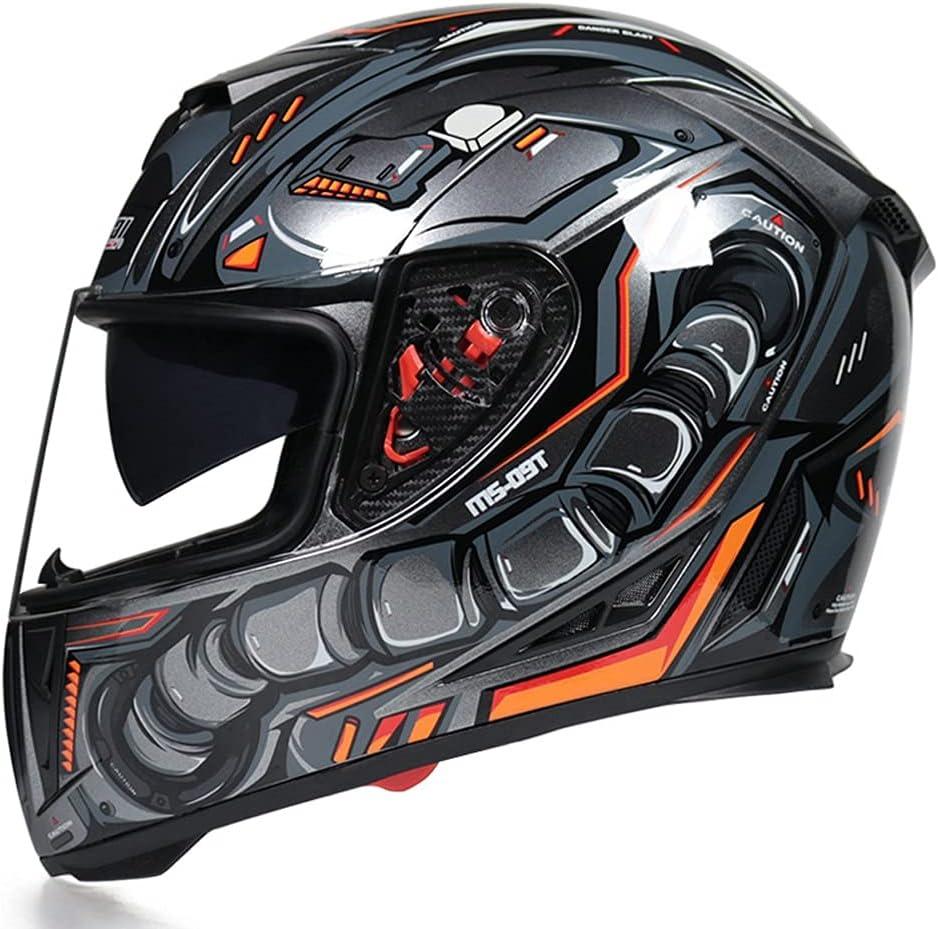 Motorcycle Max 43% OFF Full 1 year warranty Face Helmet DOT Moped St Certified Motorbike ECE