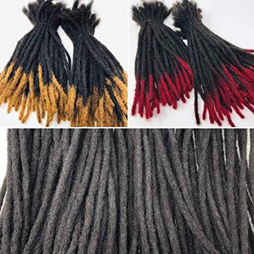 100% Human Hair Dreadlocks Extensions Handmade Medium 1/4