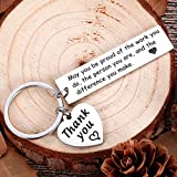 Boss Day Coworker Employee Appreciation Gifts Keychain for Men Women Leaving Gifts Office for...