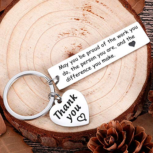 Boss Day Coworker Employee Appreciation Gifts Keychain for Men Women Leaving Gifts Office for Colleagues Leader Coach Nurse Birthday Thank You Going Away Gifts Retirement Boss Day Lady Presents