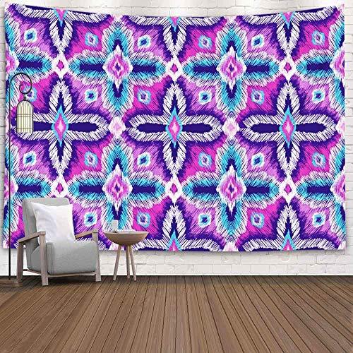 BFNBRLOR Tapiz de pared de 200 x 152 cm, patrón de bordado, diseño tribal, estilo étnico, tela bordada, textura bohemia, para colgar en la pared, para dormitorio, sala de estar o casa