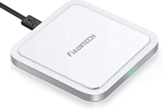 FULOXTECH Wireless Charger Pad,Qi-Certified Zinc Alloy Fast Charging 7.5W Compatible with iPhone Xs MAX/XR/XS/X/8/8 Plus,10W for Samsung Galaxy S9/S9 Plus/S8/S8 Plus/Note 9/8/5 (No AC Adapter)
