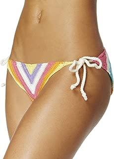 Bar III Womens Crochet Side Tie Swim Bottom Separates Multi M