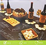 Black Chalkboard Vinyl Tablecloth with Flannel Backing -Perfect for Customizing Your Parties - Housewarming, Birthdays, Engagements, Anniversaries, Weddings and More! (52 inch X 70 inch Oblong)