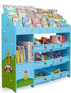 Étagère de Rangement pour Enfants Étagère de Rangement pour Enfants avec boîtes Amovibles Organisateur de Jouet pour Toy R...