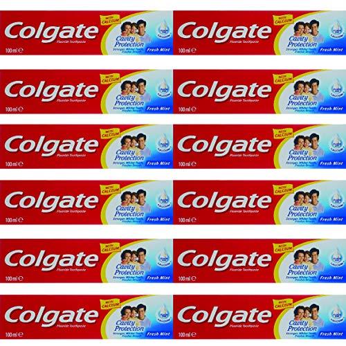 Colgate Pasta de dientes con fluoruro de menta Cavity Protection 12 x 100ml