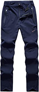 Loose Casual Waterproof Pants Hiking Pants for Outdoor Sport Women's Dark Blue Quick Dry Pants Cloth (Size : XXL)