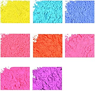 Neon Soap & Cosmetic Color Sample Set - 8 Powder Colors - Bright & Vibrant Colors for Soap Making - Powder Dye Pigment
