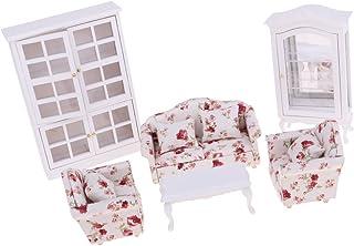 1//12 table de bout de sofa de meubles de miniature de maison de poupée avec