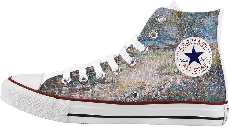 Converse All Star Personnalisé et imprimés - Chaussures à la Main - - Impressionism