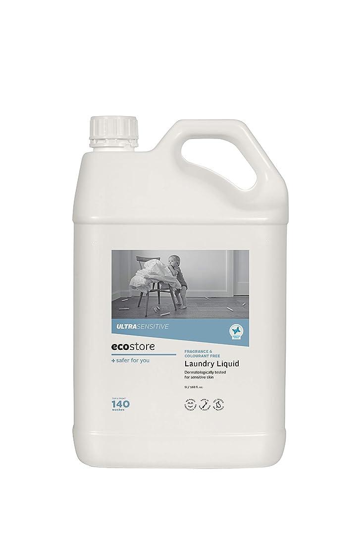 薬理学拍車軽減ecostore(エコストア) ランドリーリキッド 【無香料】大容量 5L 洗濯用 液体 洗剤
