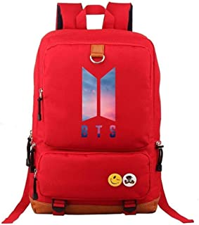 Asdfnfa Backpack, Men and Women Couple Rucksack Travel Packet Computer Package Student School Bag (Color : Red)