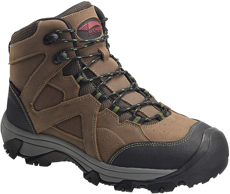 Avenger 7710 Men's Crosscut All Leather Waterproof PR Work Boot - Steel Toe
