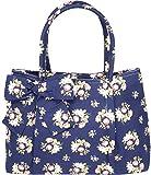 Küstenluder Damen Tasche Aleen Vintage Blüten Handtasche Dunkelblau mit Rosen
