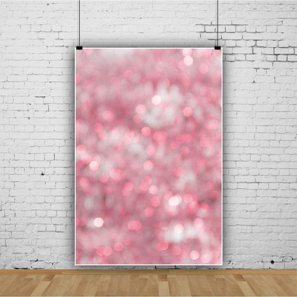 Laeacco 5x7ft Blurry Pink Backdrops Abstract Pink Bokeh Haloes Background for Photography Dreamlike Art Photo Studio Girl Birthday Party Decoration Newborn Baby Shower Children Kids Portraits Shoot