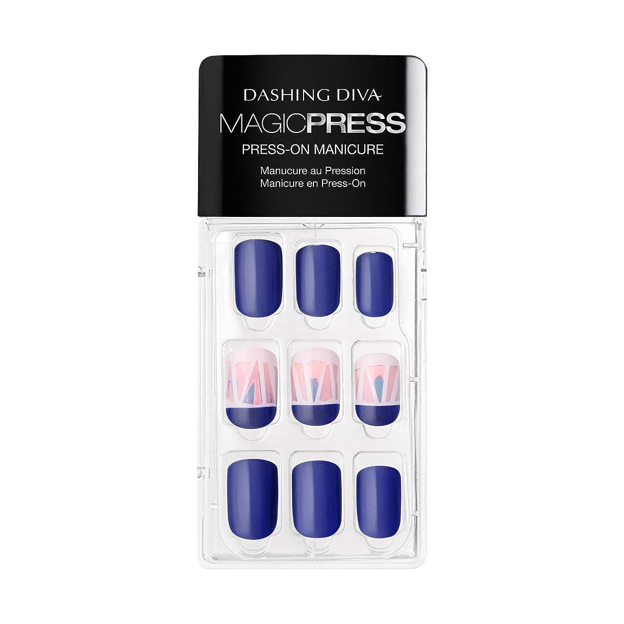 範囲十代の若者たち自慢Dashing Diva - Magic Press - Press-On Manicure - True Blue - 30 Pieces