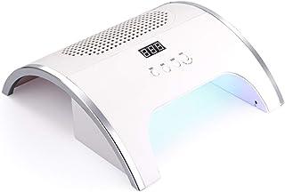 Aspiradora de uñas Colector de polvo 2 en 1 Lámpara de uñas LED UV 80W con potentes ventiladores y bolsas recolectoras Secador de uñas Manicura Limpieza Extractor Máquina Salón Arte Herramientas