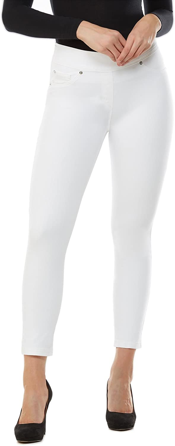 Plus LUXE DENIM SLIMS Skinny Ankle Jeans White 2X