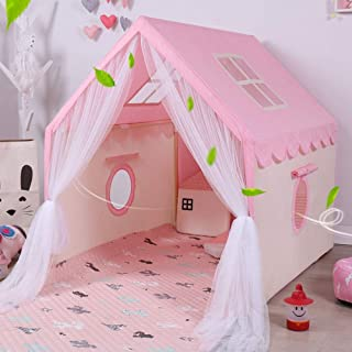 Fofofs Blue Children's Tent Indoor Princess Girl Baby Dream Big Game House Small House Give 2 Meters Long Cotton Pad (Colo...