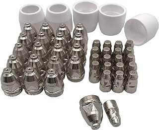Eyourlife 45pcs Plasma Electrode Tip Nozzle 1.5 100Amp Plasma Cutter Torch Consumables Kit fit P-80 Cutter Tips Nozzle