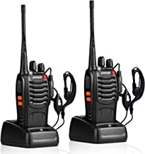 pxton Walkie Talkies Rechargeable Long Range Two-Way Radios with Earpieces,2-Way Radios..