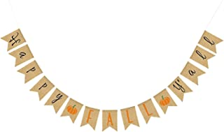 Happy Fall Yall Burlap Banner – No DIY Required, Sturdy Burlap Pumpkin Style | Great for Thanksgiving, Baby Bridal Shower, Wedding, Anniversary, Fall Autumn Themed Birthday, Home Office Party Supplies
