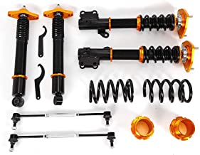 TFCFL Racing Coilovers Suspension Kit Shocks Absorber for 2011-2015 Hyundai Genesis Coupe Model ONLY 2D(Golden)