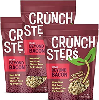 Crunchsters Sprouted Protein Snack Share Size (4 oz) (Beyond Bacon, 3 Units)