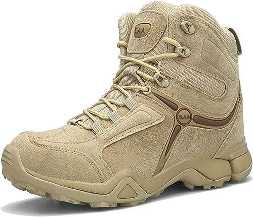 Trekkingschuhe für Herren Atmungsaktive Sport Tactical Combat Schnürschuhe Hohe Schuhe
