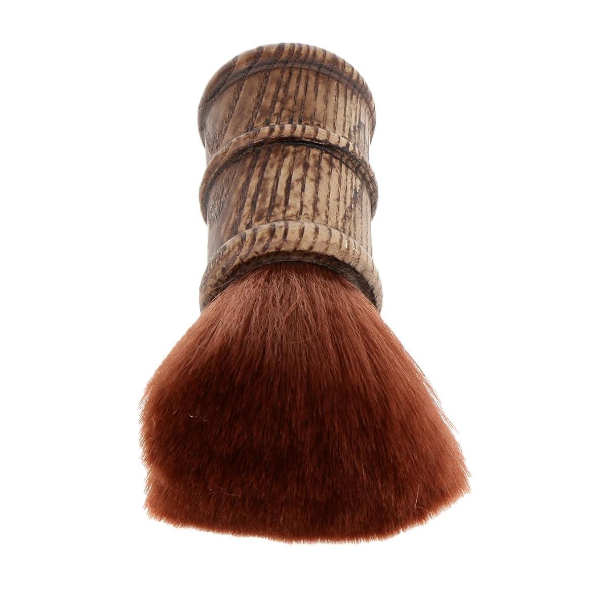 きらめく素晴らしき承認Blesiya ネックダスターブラシ ヘアカットブラシ ブラシ プロ サロン 柔らかい 自宅用 ヘアスタイリスト ヘアカット 散髪 理髪師 2色選べる - 褐色