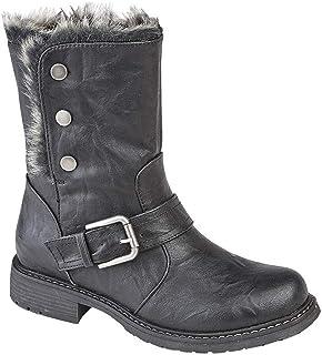 Cipriata Womens/Ladies Andreana Press Stud Fold Down Biker Style Leather Boot