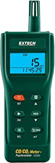 Extech CO260 CO/CO2 Meter Indoor Carbon Monoxide (CO) and Carbon Dioxide (CO2) Datalogging Meter