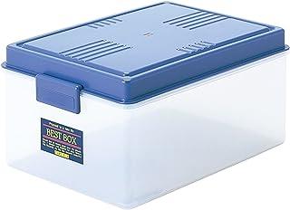 サンコープラスチック 収納ケース ベストボックス 幅48.7×奥33.9×高23cm ブルー