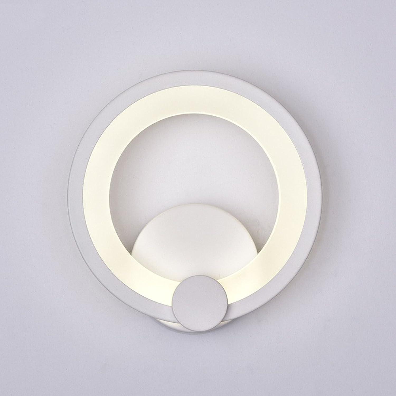 Firsthgus E27 Runde geführte Schlafzimmer Nachttischlampe einfache moderne Ganglichter Korridor Acryllichter, Trompete