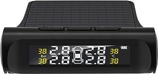 Adaskala TPMS do carro Sistema de monitoramento da pressão do pneu Sistema de alarme sem fio do carro TPMS, 4 sensores ext...