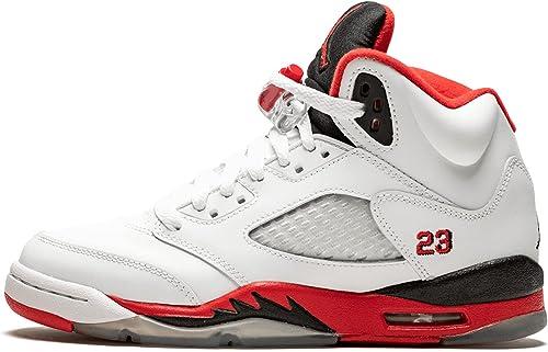 Nike AIR Jordan 5 Retro Enfant - Age - Adolescent, Couleur - Blanc ...