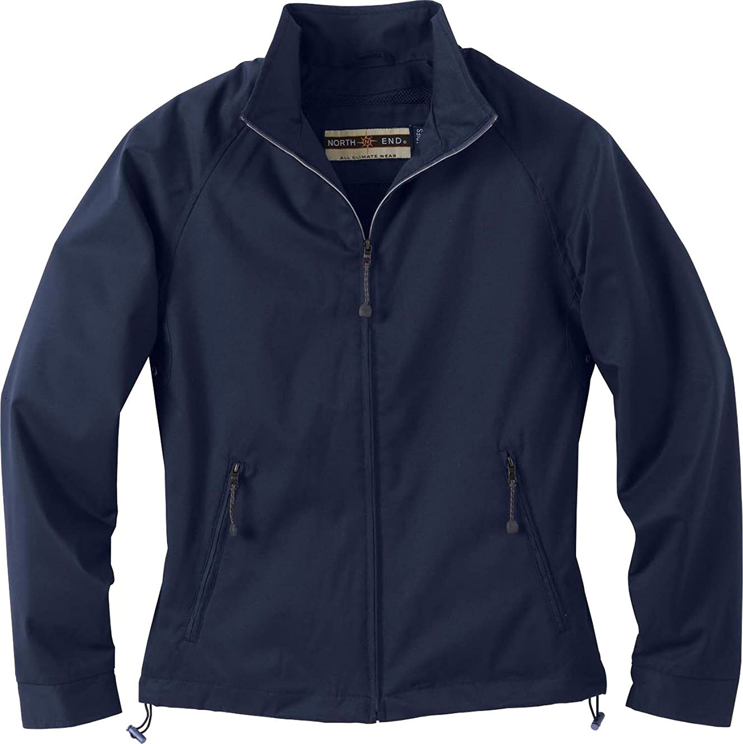 North End Ladies Micro Twill Bomber Jacket. 78044  Large  Midnight Navy