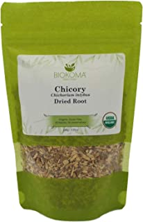 100% Pure and Organic Biokoma Chicory Dried Root 100g (3.55 oz) in Resealable Moisture Proof Pouch