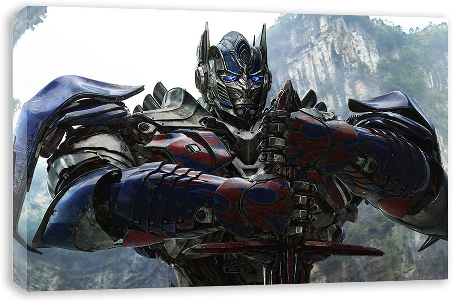 TRANSFORMERS AGE OF EXTINCTION OPTIMUS PRIME CANVAS WALL ART (30x18 )