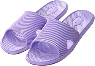Enerhu Women Slippers Anti-Skid Men Sandals Quick Dry Shower Flip-Flops for Bath Pools Hotel