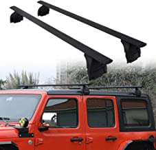 poueae Roof Rack Cross Bars Aluminum Luggage Rack Black Replacement for Jeep Wrangler JL Unlimited 2//4 Door 2018-2020,Curved Design/&Features Keyed Locking Mechanism Lossless Installation