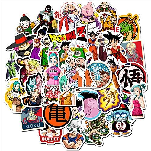 ZNMSB 100 Nuevas Pegatinas de Dragon Ball para Equipaje, Maletas, Pegatinas de Dibujos Animados, Impermeable, Nevera, monopatín, Pegatinas Decorativas Wukong