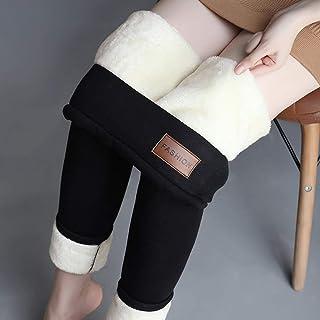 Swiftgood Varma byxor Vinter Skinny Tjock Sammet Ull Fleece Flickor Leggings Kvinnor Byxor Lammskinn Cashmere Byxor för kv...