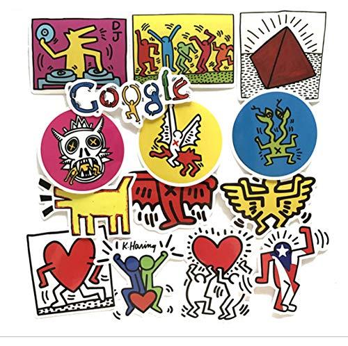 QIANGWEI Stickers voor snowboard, laptop, bagage, koelkastvorm, pvc, waterdicht