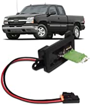 AC Blower Motor Resistor Kit Replacement fits Chevy Suburban Tahoe Silverado Avalanche Cadill Fan Blower Motor Fan Speed Resistor Replaces with Wire Harness- HVAC