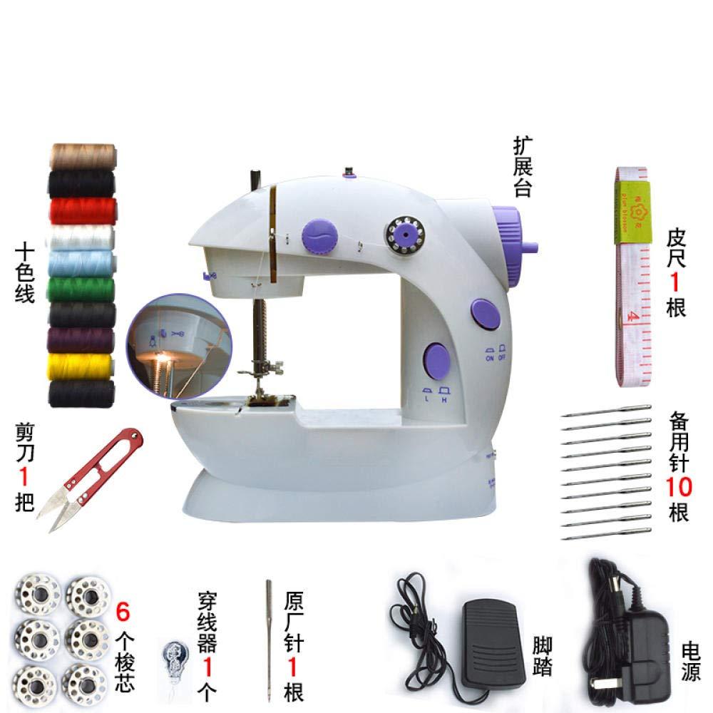 Pequeña máquina de coser doméstica con lámpara incorporada ...
