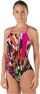 Speedo Women's PowerFLEX Eco Rio Floral Cross Back One Piece Swimsuit