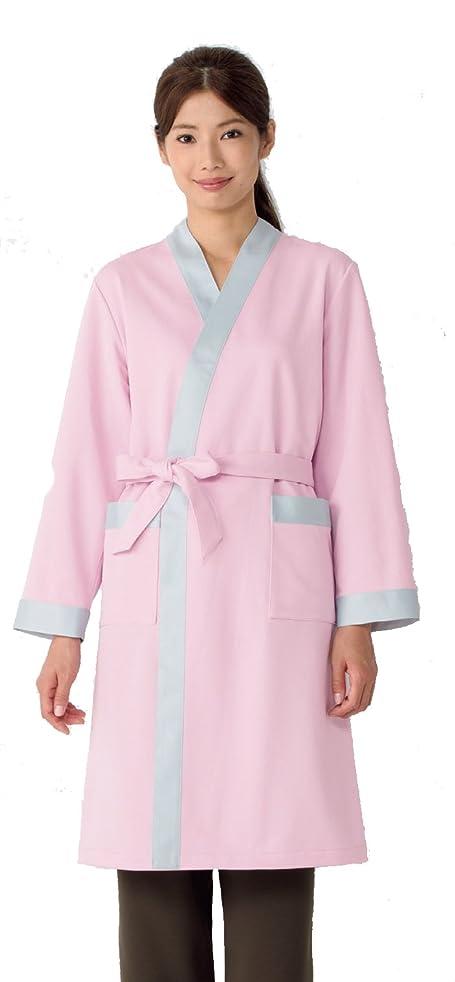 機関車出版側溝患者衣 検診ガウン(男女兼用) KAZEN ピンク サイズ:S 221-93