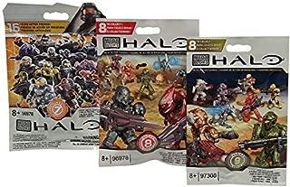 Mega Bloks Halo Series 7, Series 8 & Series 9 Mini Figure Blind Bags (1 Pack of Each)