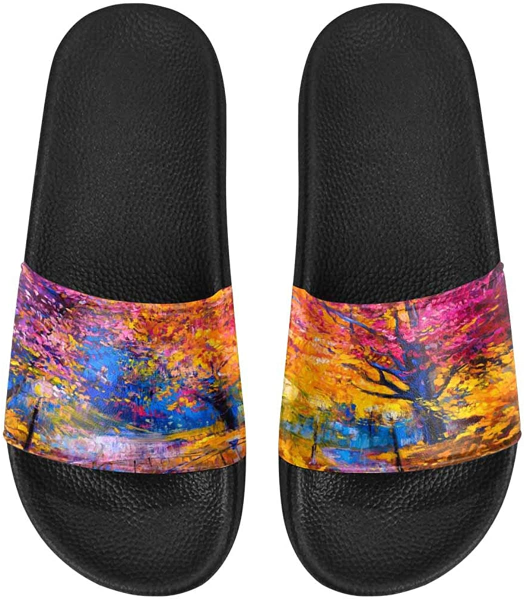 InterestPrint Women's Stylish Slipper Sandals Made from Soft Material Color Pineapple Summer